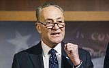 In this Jan. 5, 2017 file photo, Senate Minority Leader Charles Schumer of New York speaks during a news conference on Capitol Hill in Washington. (AP Photo/Zach Gibson, File)