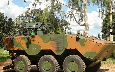 Elbit's RWCS on a Guarani Vehicle of the Brazilian army (Courtesy)