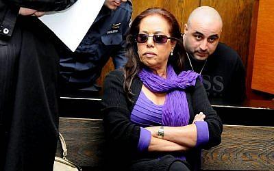 Singer Margalit Tzanani sits in the courtroom of the Tel Aviv District Court, November 27, 2011. (Yossi Zeliger/FLASH90)