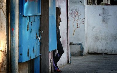 Illustrative photo of a prostitute in Tel Aviv.(Flash90)