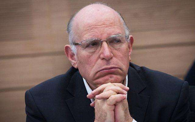 Strategist Uzi Arad at the Knesset on December 2, 2015 (Miriam Alster/Flash90)