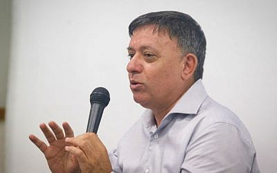 Former environmental protection minister Avi Gabbay in June 2016 (FLASH90)
