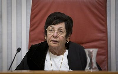 Supreme Court Chief Justice Miriam Naor. (Yonatan Sindel/Flash90)