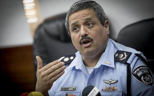 Chief of Police, Roni Alsheikh speaks with the media during a press conference at the police headquarters, Jerusalem on January 22, 2017. (Yonatan Sindel/Flash90)