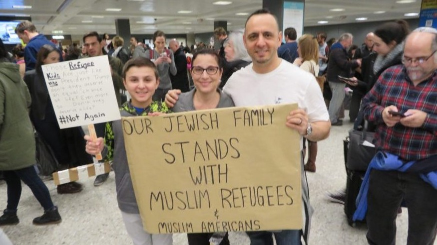 History in mind, Jews across US join airport protests of refugee ban | The Times of Israel