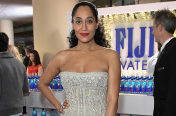 Actress Tracee Ellis Ross at the 74th annual Golden Globe Awards sponsored by FIJI Water at The Beverly Hilton Hotel on January 8, 2017 in Beverly Hills, California. (Photo by Charley Gallay/Getty Images for FIJI Water, via JTA)