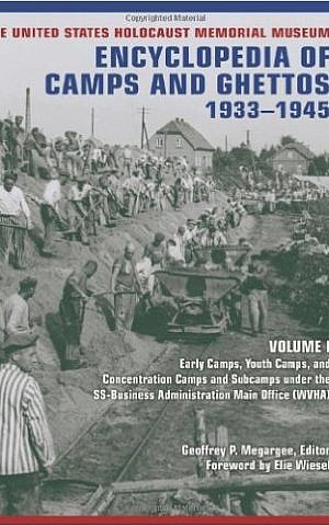 Cover of a volume of the 'Encyclopedia of Camps and Ghettos, 1933-1945' (courtesy)