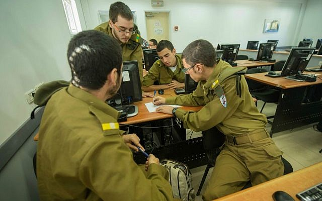 Cadets in the IDF's C4I programmers course. Most are still men (Courtesy: IDF)