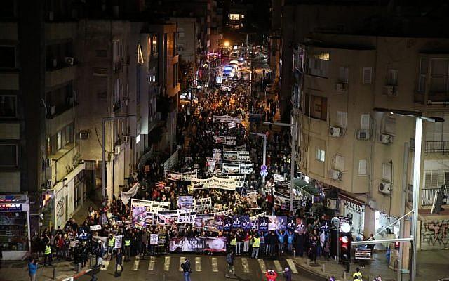 Protest in Tel Aviv against live animal imports, January 28, 2017. (Revital Topiol)