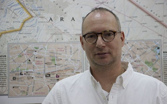 Israeli-American Moti Kahana, CEO of Amaliah. (Credit: Dov Lieber / Times of Israel)