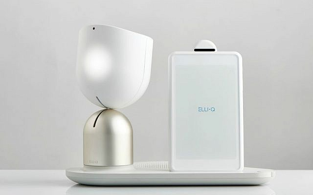 Intuition Robotic's ElliQ acknoledges a person's presence with a head nod (Courtesy)
