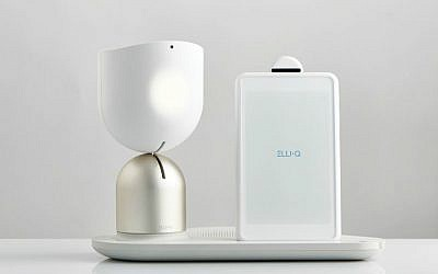 Intuition Robotic's Elli•Q acknoledges a person's presence with a head nod (Courtesy)