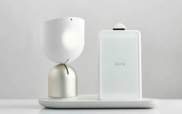 Intuition Robotic's Elli•Q acknoledges a person's presence with a head nod (Courtesy)