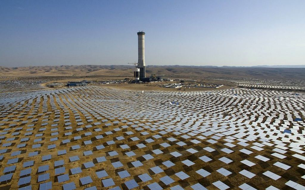 On a cloudless day, Israel breaks its solar power production record