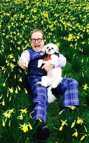 Joe Goldblatt of Edinburgh, Scotland, wearing his newly-designed family tartan. (Courtesy)