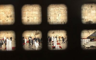 Approaching a year to the Israeli government's cabinet decision to create a pluralistic prayer pavilion at Jerusalem's Western Wall, the implementation is stymied in politics. (Amanda Borschel-Dan/Times of Israel)