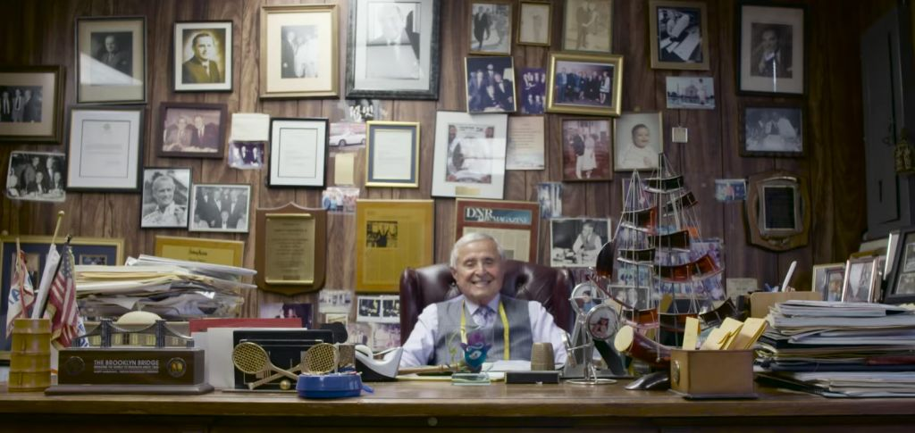 Even at 88, the head of Martin Greenfield Clothiers still comes to work six days a week to oversee quality. (screenshot)