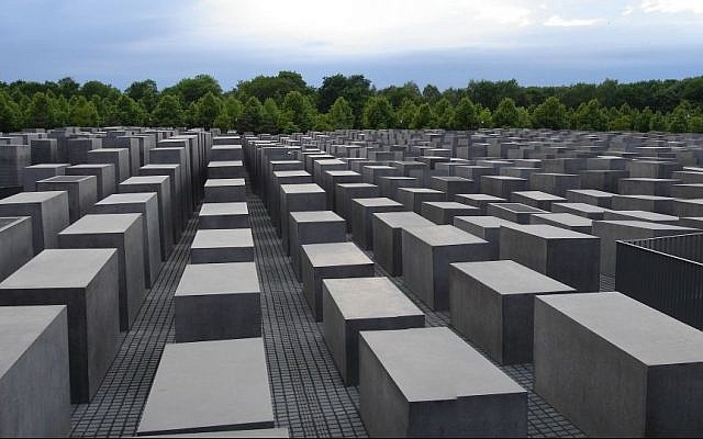 Germany's Holocaust memorial for the murdered Jews of Europe in the heart of Berlin (CC BY-SA Chaosdna/Wikipedia)