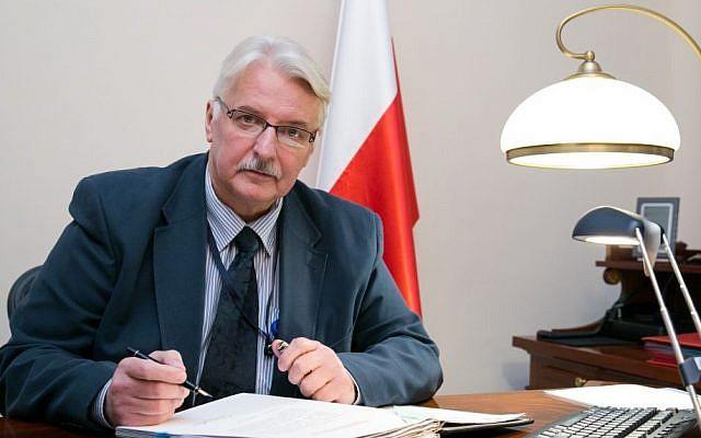 Polish Foreign Minister Witold Waszczykowski, November 2015, (CC BY-SA Karolina Siemion-Bielska, Wikimedia commons)