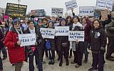 Many Jews from all walks arrived to march on Saturday, January 21 in the Women's March in Washington, DC. (Ron Sachs/National Council of Jewish Women)