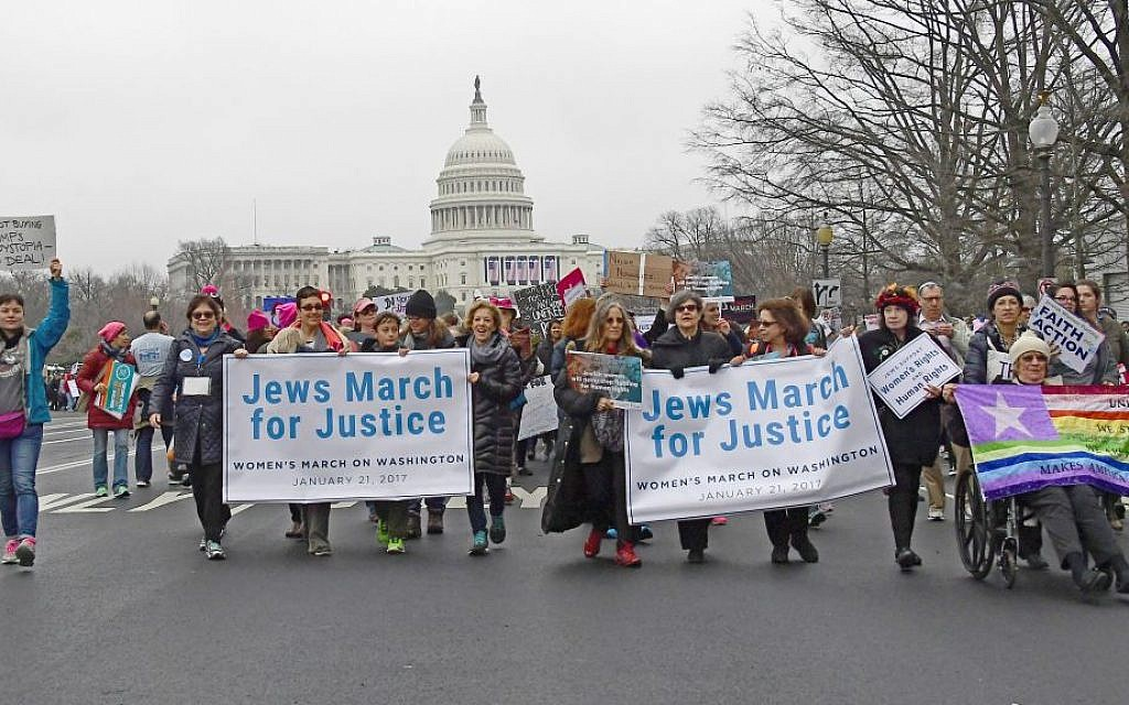 A wide swath of Jews marched in unison on Saturday, January 21 in the Women's March in Washington, DC. (Ron Sachs/National Council of Jewish Women)