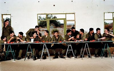 Adi Nes's 'Untitled (Last Supper), planned down to the last plate (Courtesy Israel Museum)