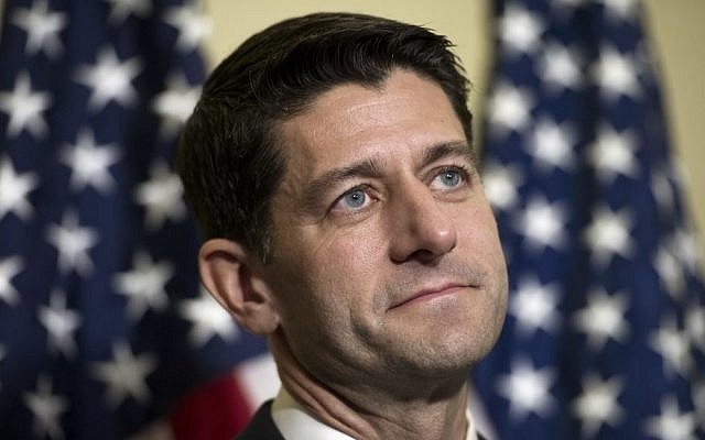 House Speaker Paul Ryan of Wis. speaks during a news conference on Capitol Hill in Washington, November 15, 2016. (AP/Cliff Owen)
