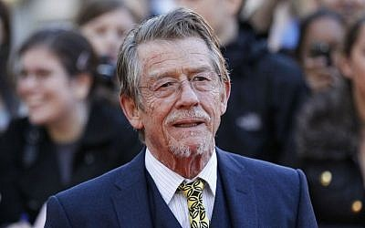 "This Sep. 13, 2011, shows British actor and cast member John Hurt arriving for the UK film premiere of ""Tinker Tailor Soldier Spy"" at the BFI Southbank in London. (AP Photo/Sang Tan, File)"