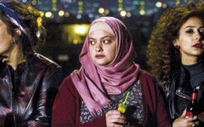 "Image from a scene in the 2016 film ""In Between,"" about Arab-Israeli women in Tel Aviv. (Credit: screenshot)"