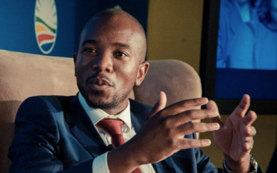 Mmusi Maimane, who heads South Africa's Democratic Alliance party (screen grab Facebook)