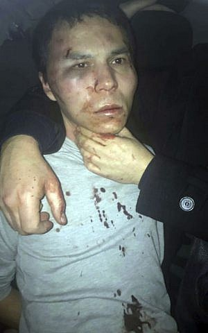 Suspected Reina club shooter Abdulgadir Masharipov after being caught by Turkish police in Istanbul, late Monday, Jan. 16, 2017. (Depo Photos via AP)