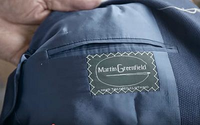 Martin Greenfield Clothiers suit label. (YouTube screenshot)