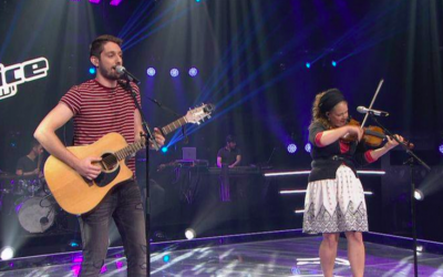 Fadi Zreik and Ariella Zeitlin-Hoffman during their duet battle on 'The Voice' (Courtesy 'The Voice')
