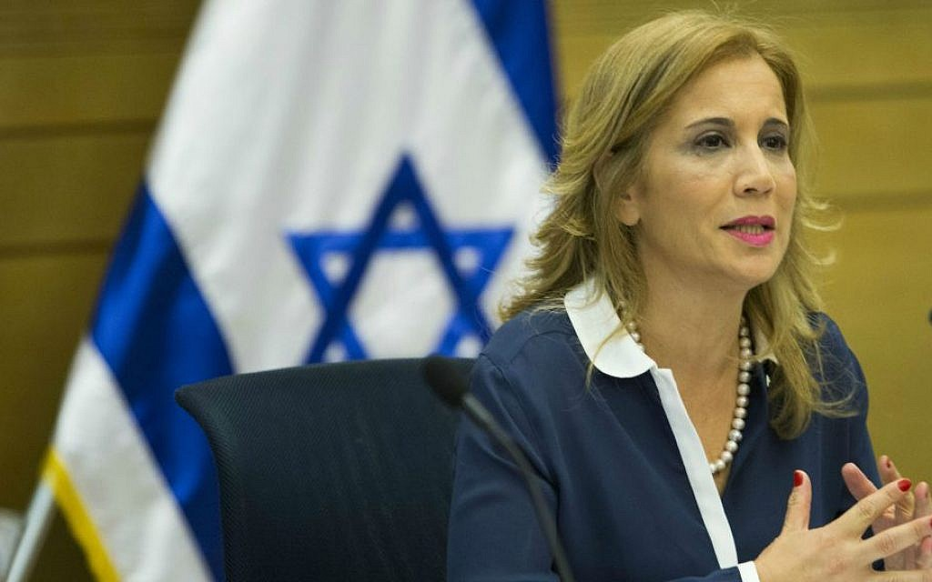 Yesh Atid MK Aliza Lavie attends a Status of Women committee meeting in the Israeli Knesset on September 3, 2014. (Noam Revkin Fenton Flash90)