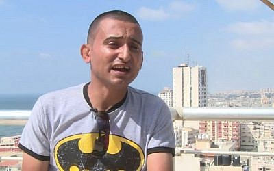 Gaza singer-comedian Adel Meshoukhi (Screen capture: YouTube)