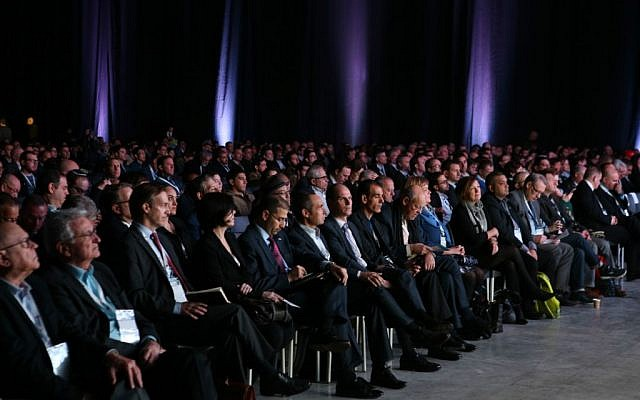 Participants at Israel's CyberTech 2016 conference (Courtesy: Gilad Kavalerchik)