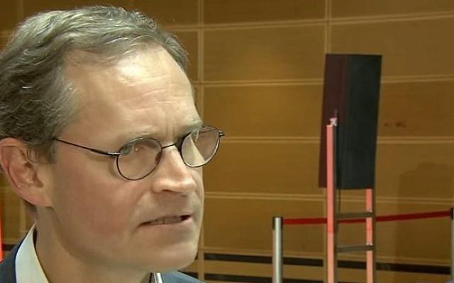 Berlin Mayor Michael Mueller in 2016 (YouTube screenshot)