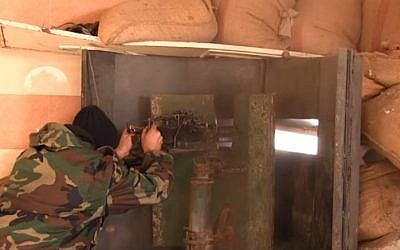 A Syrian army position in Deir el-Zour (YouTube screenshot)