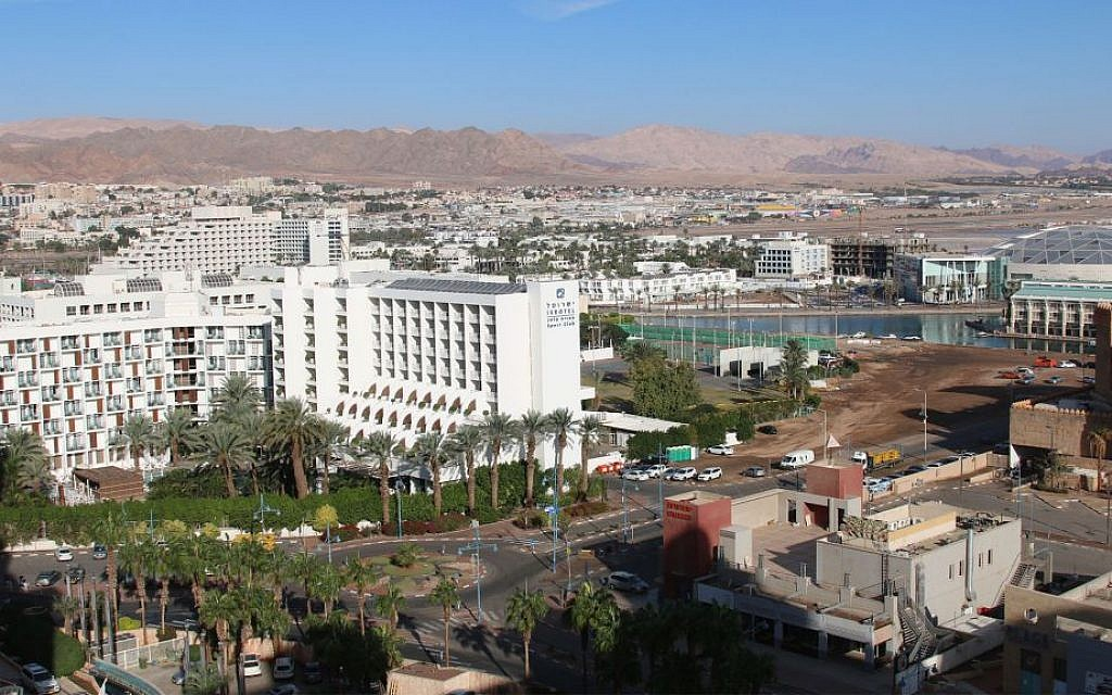 A view of the granite mountains surrounding Eilat in the early morning. (Shmuel Bar-Am)