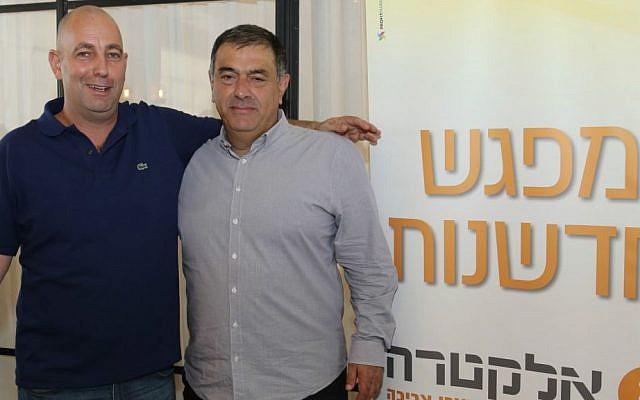 Electra's CEO Zeev Kalimi, right, with TechForGood founder Nir Shimoni (Courtesy: Yoni Reif)