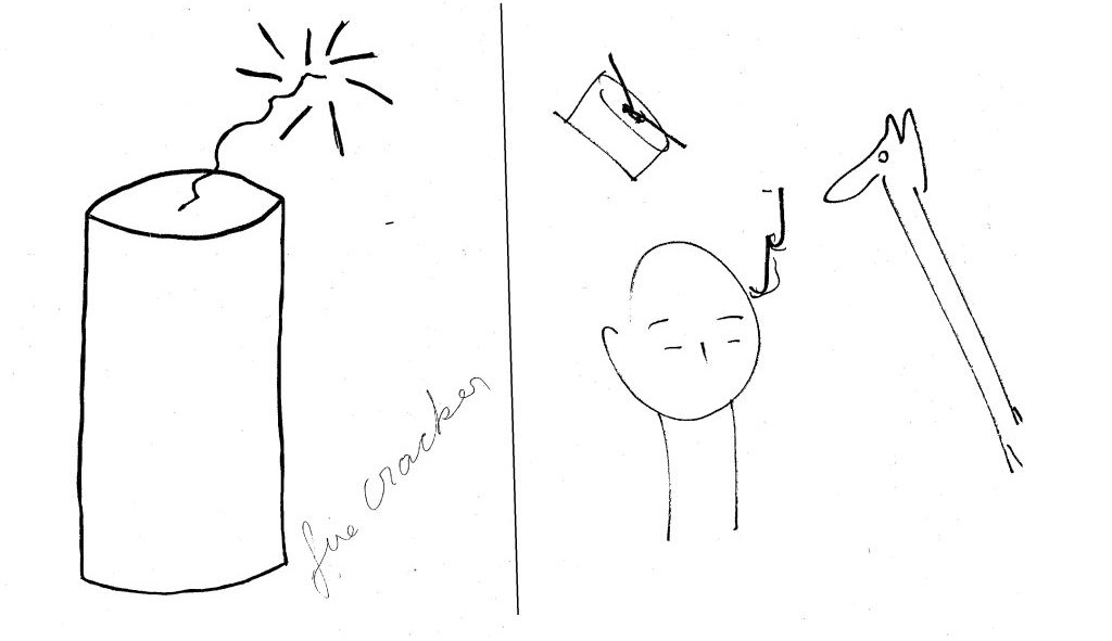 Declassified CIA documents show Uri Geller's attempt (r) to copy a drawing using only his psychic powers (CIA)