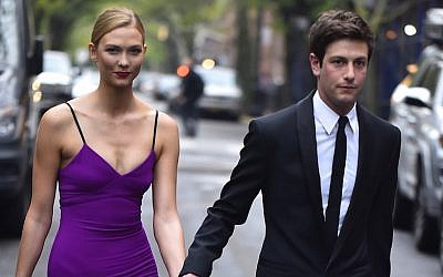 Karlie Kloss, Joshua Kushner are seen in the West Village  on April 26, 2016 in New York City.  (Photo by Alo Ceballos/GC Images)
