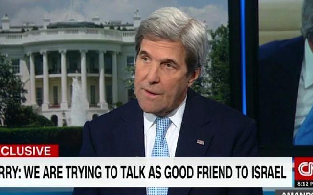US Secretary of State John Kerry speaks to CNN on January 16, 2017. (Screenshot/CNN)