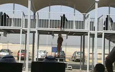 Kuwait hangs prisoners in 2009. (Screen capture: YouTube)