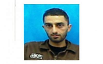 A police picture of the Palestinian prisoner who escaped from Israeli custody on January 29, 2017. (Israel Police)