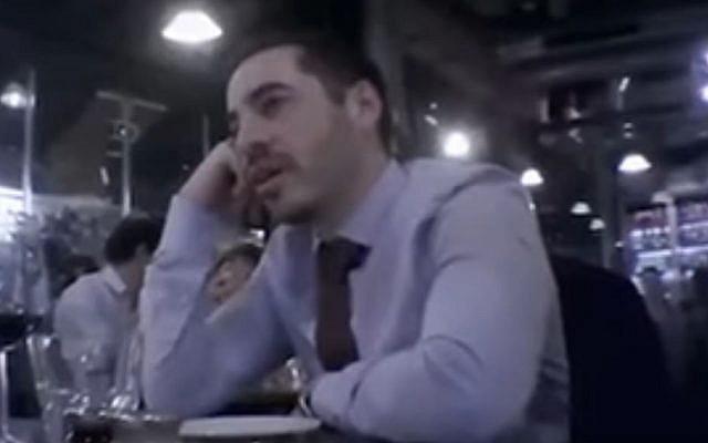 Israeli Embassy in UK worker Shai Masot filmed secretly in January 2017 (Screen capture: YouTube)
