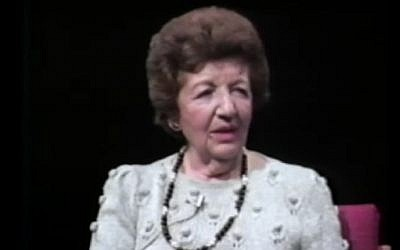 Rae Kushner, grandmother of Jared Kushner, testifies in a 1982 interview about er experience in the Holocaust. (Screenshot)