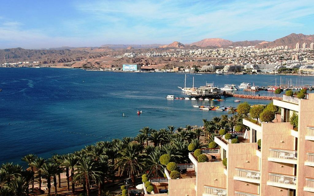 The granite mountains surrounding Eilat change hues throughout the day, especially in the morning and evening. (Shmuel Bar-Am)