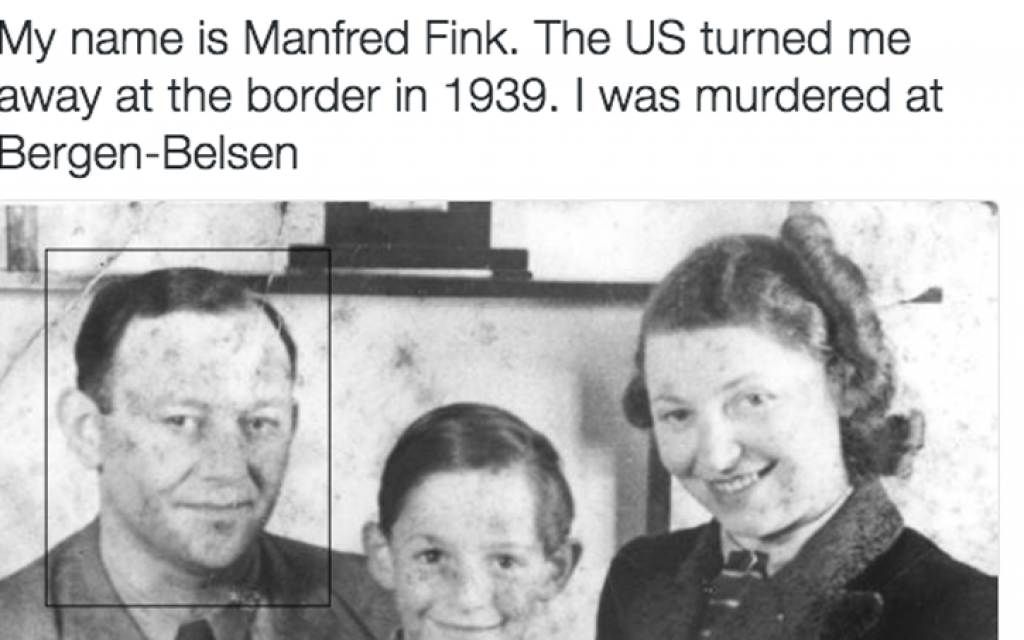 Haunting Twitter feed remembers Jewish refugees turned away by US