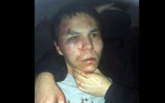 Reina club shooter Abdulgadir Masharipov after being caught by Turkish police in Istanbul, late Monday, January 16, 2017. (Depo Photos via AP)